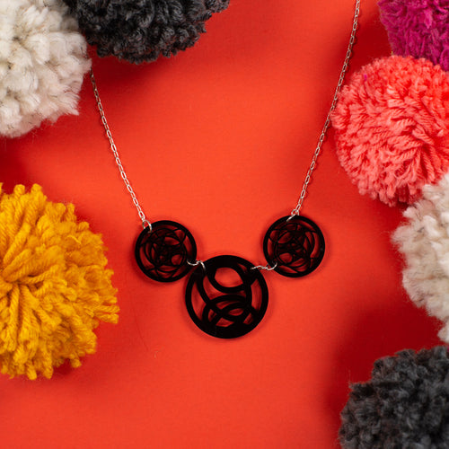 black circle necklace