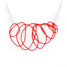 Delicate Red Statement Necklace - Scribbler