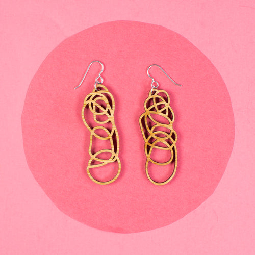 Bamboo Dangle Earrings - Drawn Out