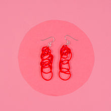 Load image into Gallery viewer, Red Dangle Earrings - Drawn Out