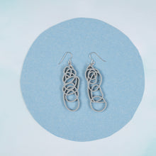 Load image into Gallery viewer, Silver Dangle Earrings - Drawn Out
