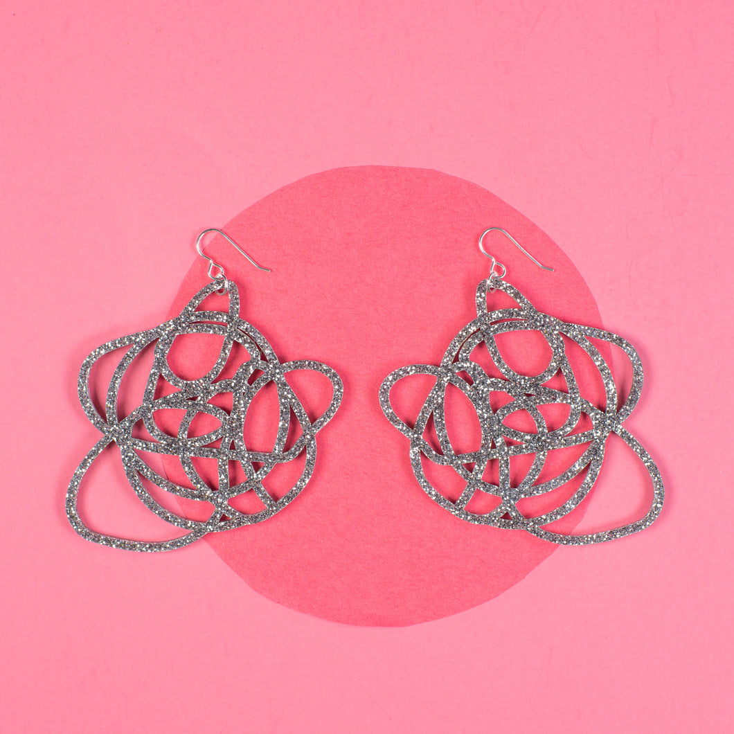 Silver Statement Earrings - Grande