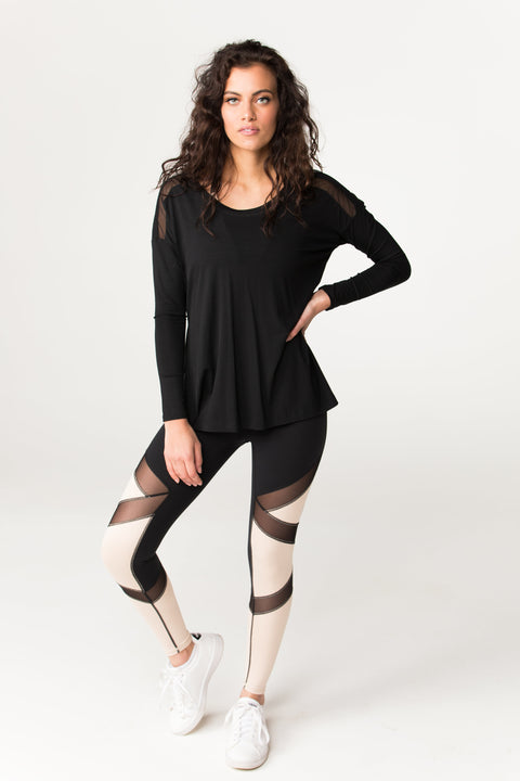 Body Language Mesh Pullover