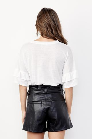 Vegan Leather Waist Belted Short