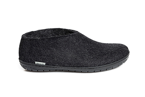 Glerups Shoe Charcoal Black Rubber