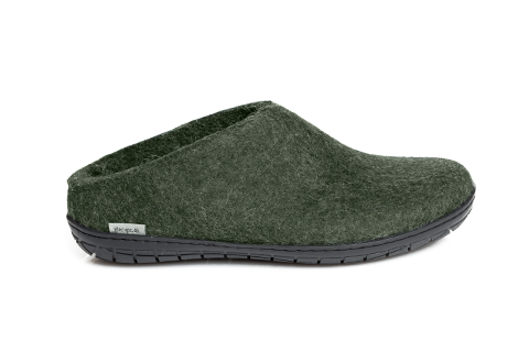 Glerups Slip-on Forest Black Rubber