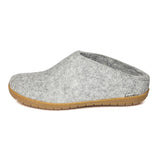 Glerups Gum Rubber Sole Grey Slipper