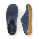 Glerups Gum Rubber Sole Denim Slipper