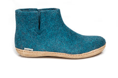 Low Boot Glerups Leather Sole Blue Boot