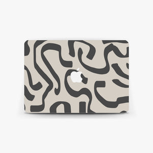 Abstract Greige MacBook Skin
