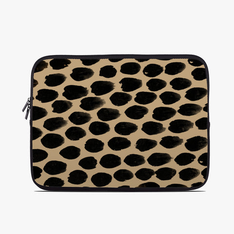 Beige Spot Neoprene Laptop Case