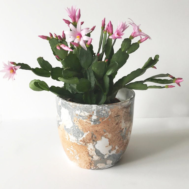 Copper Marble Ceramic Plant Pot