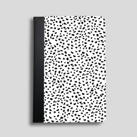 Dalmatian Spots Faux Leather iPad Case