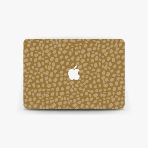 Beige Autumn Dot Macbook Skin