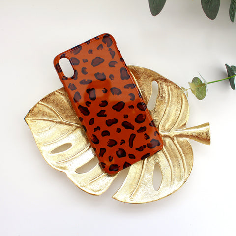 Rust Leopard Print Phone Case
