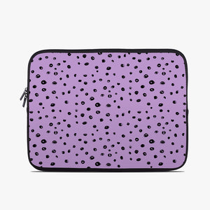 Lilac Dots Neoprene Laptop Case