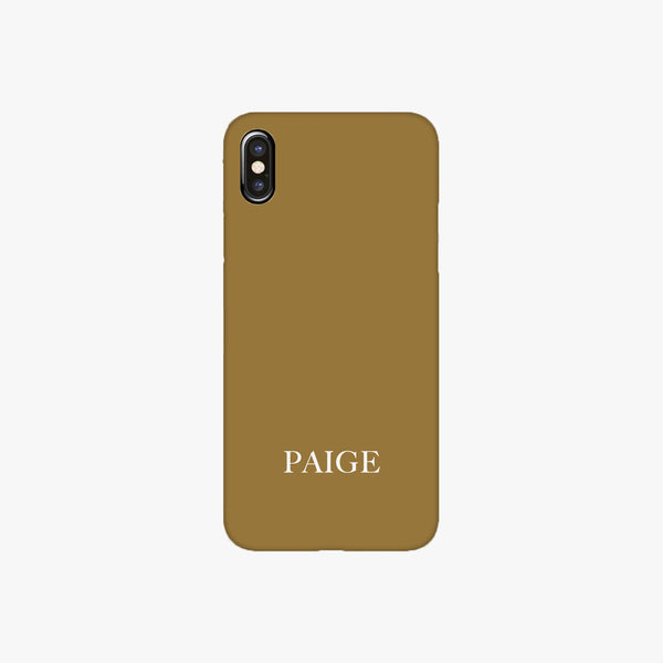 Caramel Personalised Phone Case