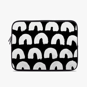 Monochrome Rainbow Neoprene Laptop Case