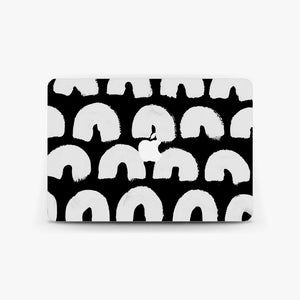 Monochrome Rainbow Macbook Skin
