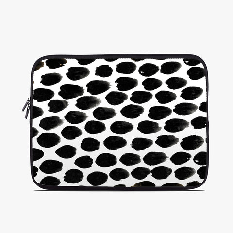 Monochrome Spot Neoprene Laptop Case