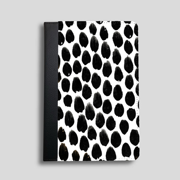 Monochrome Spot Faux Leather iPad Case