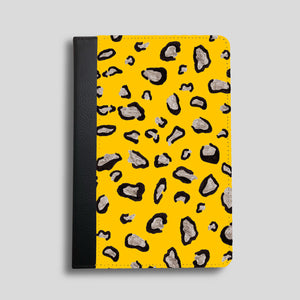 Mustard Leopard Print Faux Leather iPad Case