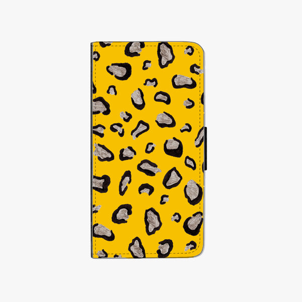Mustard Leopard Faux Leather Phone Case