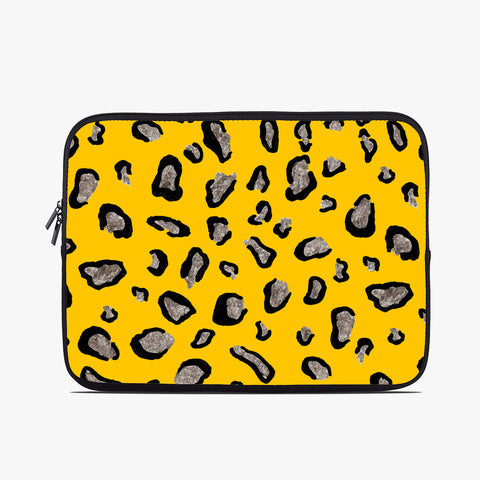 Mustard Leopard Neoprene Laptop Case
