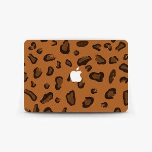 Rust Leopard Print Macbook Skin