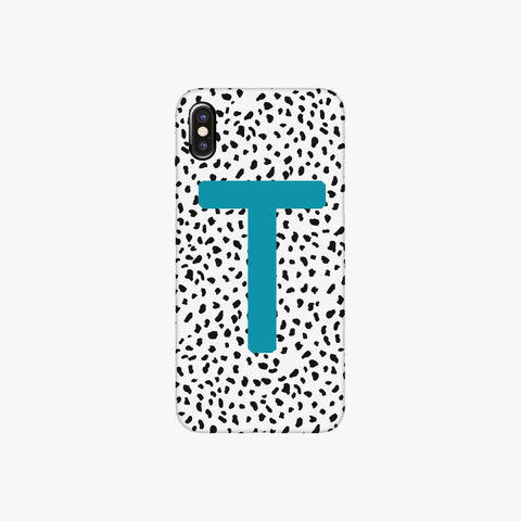 Teal Personalised Dalmatian Phone Case