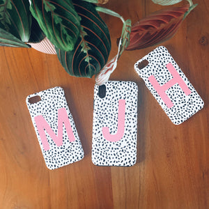 Pink Personalised Dalmatian Phone Case