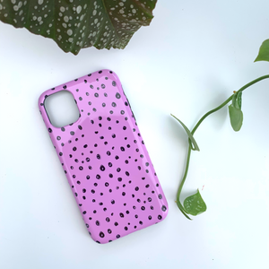 Lilac Dots Deluxe Tough Phone Case