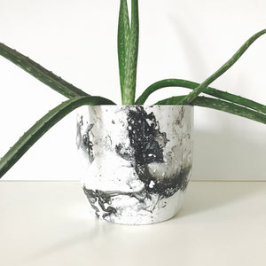 Monochrome Marble Ceramic Plant Pot