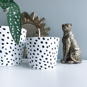 Hand Painted Dalmatian 10cm Ceramic Planter