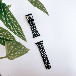 Reverse Dalmatian Spot Vegan Leather Apple iWatch Strap