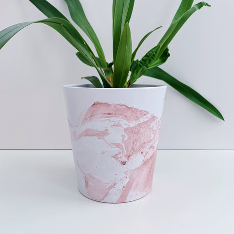 Rose Gold Marble 13cm Ceramic Planter