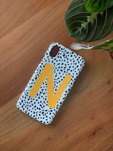 Dalmatian Mustard Yellow Personalised Deluxe Tough Phone Case