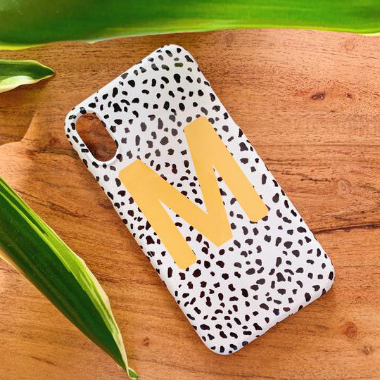 Mustard Personalised Dalmatian Phone Case