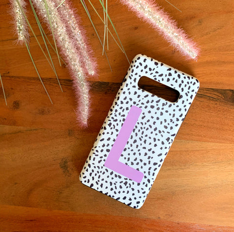 Lilac Personalised Dalmatian Phone Case