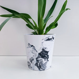 Monochrome Marble 13cm Ceramic Planter