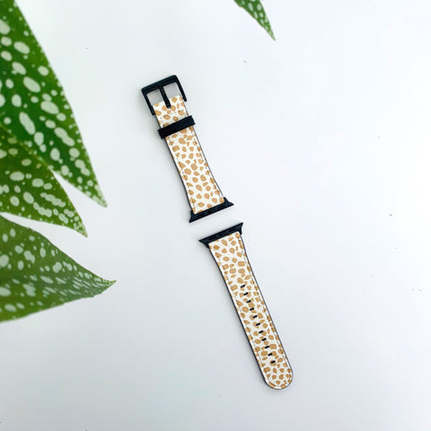 Autumn Dots Vegan Leather Apple iWatch Strap