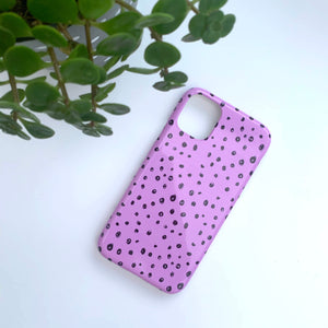 Lilac Dots Phone Case