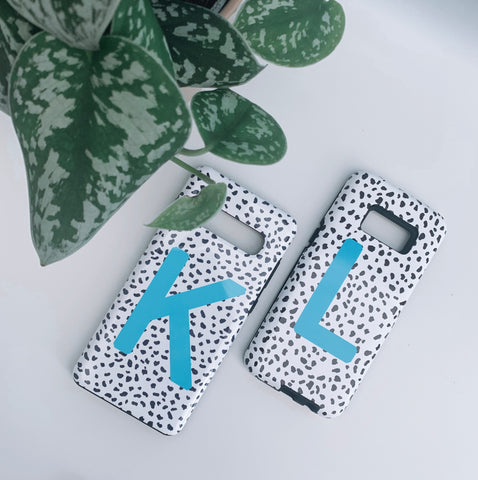 Dalmatian Teal Blue Personalised Deluxe Tough Phone Case