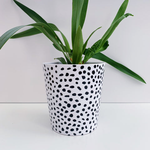 Hand Painted Dalmatian 13cm Ceramic Planter