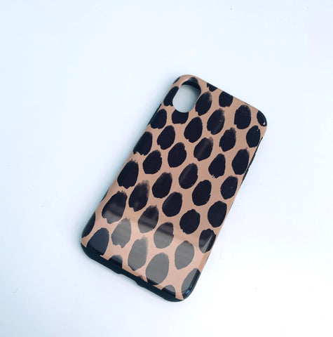 Beige Spot Deluxe Tough Phone Case