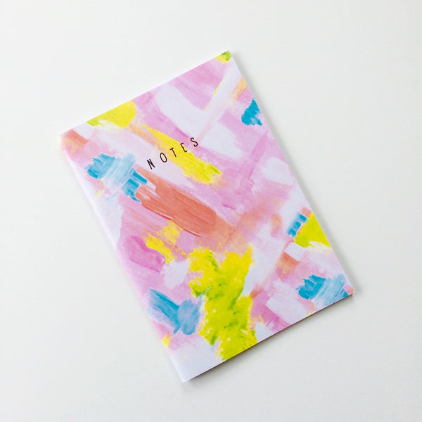 Neon Dash Lined A5 Paperback Notebook