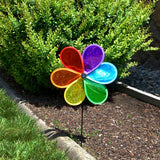 "12"" Rainbow Glitter Flower Spinner"