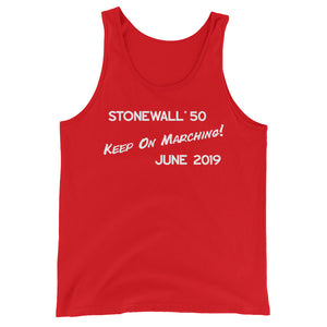 Keep On Marching! Unisex Jersey Tank with Tear Away Label