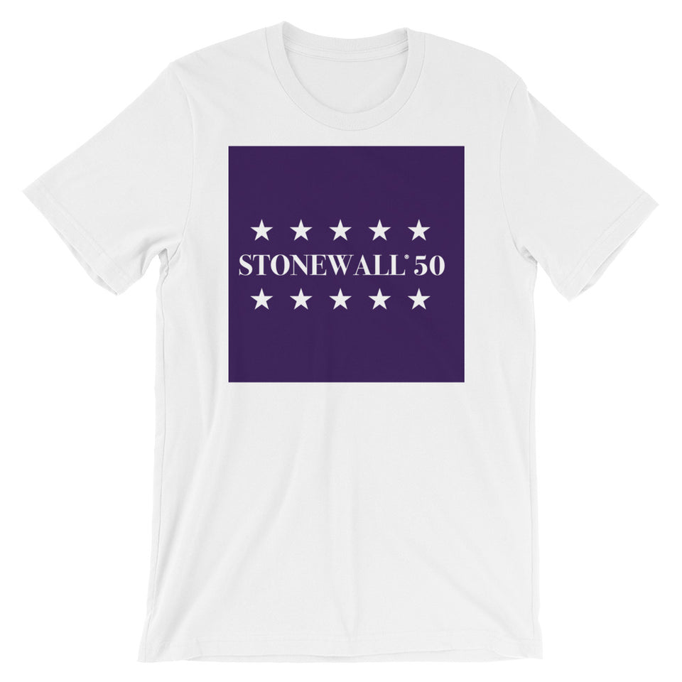 Stonewall50 Royalty Unisex Short Sleeve Jersey T-Shirt