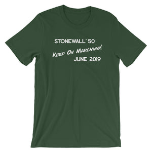 Keep On Marching! Unisex Short Sleeve Jersey T-Shirt with Tear Away Label